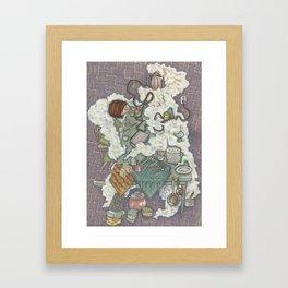 The Steam Curls Framed Art Print