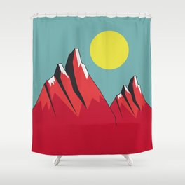Abstract Landscape - Snow Peak Mountains Shower Curtain