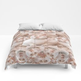 cage cat collage Comforters