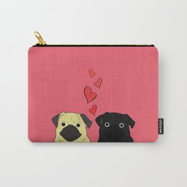 Pugs In Love Pink Carry-All Pouch