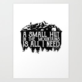A Small Hut in the Mountains Art Print