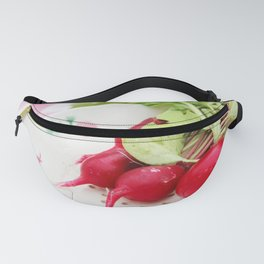 Radishes on a plate Fanny Pack