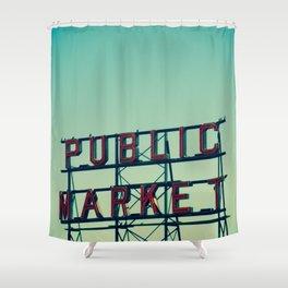 public market... Shower Curtain