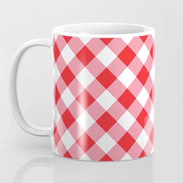 Gingham - Red Coffee Mug