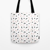 infamous Tote Bags featuring Infamous Mustaches by Katherine Messenger