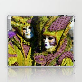 Glamorous Couple With Carnival Costumes Laptop & iPad Skin