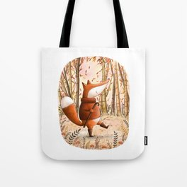 A Walk In The Woods - Fall Illustration Tote Bag