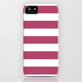 Irresistible - solid color - white stripes pattern iPhone Case
