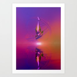 Protected by Centripetal Motion Art Print