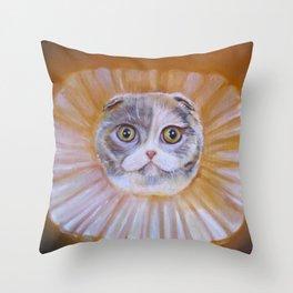 Chauncey Von Whiskerman Throw Pillow