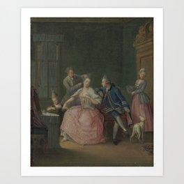 Daniel Nikolaus Chodowiecki (Danzig 1726-1801 Berlin) The hairdresser Art Print