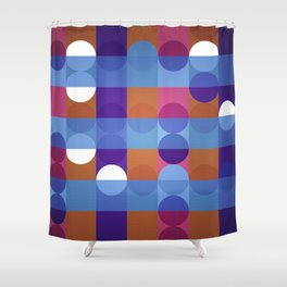 Game of circles Shower Curtain