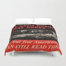 Vintage poster - Burned Books Duvet Cover
