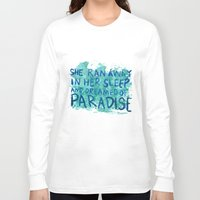 "coldplay Long Sleeve T-shirts featuring ""She Dreamed of Paradise""-Coldplay by Fabfari"