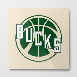 Bucks creme Metal Print