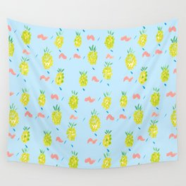 Pineapples Squiggle Wall Tapestry