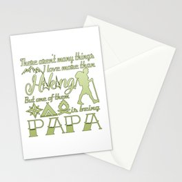 Hiking Papa Stationery Cards