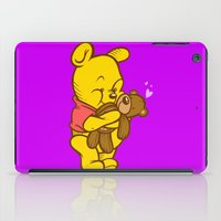 pooh iPad Cases featuring Pooh And Teddy by Artistic Dyslexia