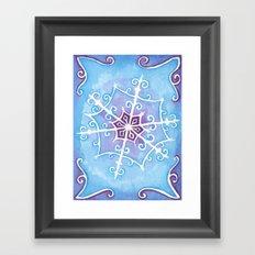 Watercolor Snowflake Framed Art Print