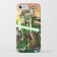 jedi iPhone & iPod Cases featuring Gerbil Jedi by Wesley S Abney