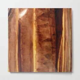 Tigers Eye Crystal Watercolor Metal Print
