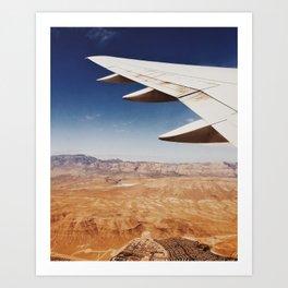 Flight Over Vegas Art Print