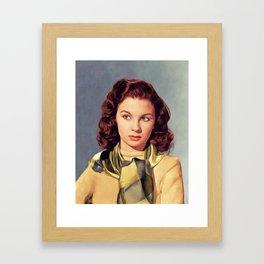 Jean Simmons, Vintage Actress Framed Art Print