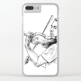 Violinist plays music Clear iPhone Case