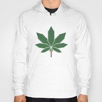 weed Hoodies featuring weed by rubenmontero