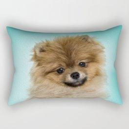 Cute Pomeranian Dog Rectangular Pillow