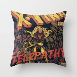 Xtina Telepathy Throw Pillow