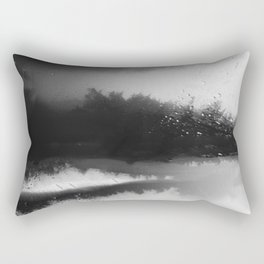 Fading Down Hidden Rain Drenched Paths Rectangular Pillow