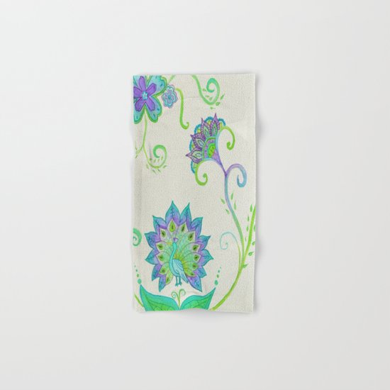 Peacocks & Paisley (1) Hand & Bath Towel