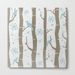 Winter Birds Metal Print