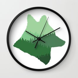 Wolf Mountains Wall Clock
