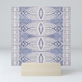 FRENCH LINEN TRIBAL IKAT Mini Art Print
