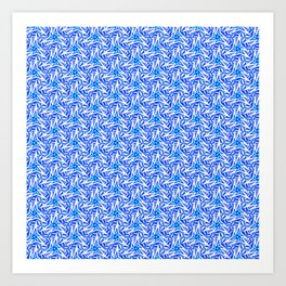 Sky Blue and Cyan Radial Stylized Arrowhead Paper Airplane Light Blue and Bright White Southwestern Art Print