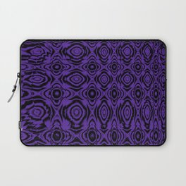 Abstract Purple Floral Laptop Sleeve