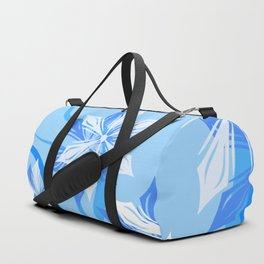The Blue Winter Flower Duffle Bag