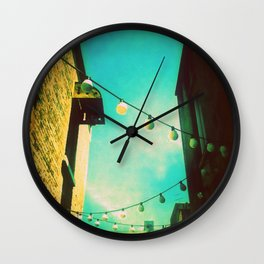 Valley Laneway in Lights  Wall Clock