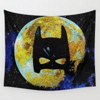 bat Wall Tapestries featuring BAT by Saundra Myles