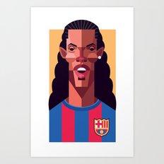 R10 | Blaugrana Art Print