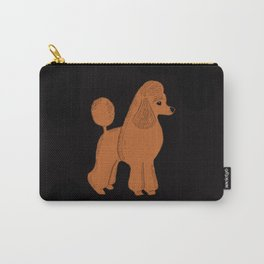 Apricot Poodle on Black Carry-All Pouch