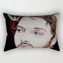 Misha Collins 2., acrylic painting Rectangular Pillow