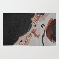 violin Area & Throw Rugs featuring violin by Anja Kidrič AdAk