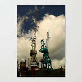 Harbor Crane Canvas Print