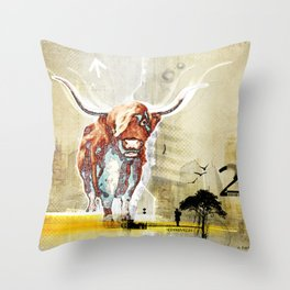 The Highland Cattle Throw Pillow