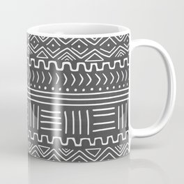 Mud Cloth on Gray Coffee Mug