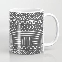 Mud Cloth on Gray Coffee Mug