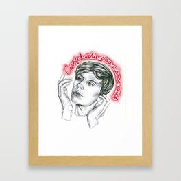 Careful who you dance with Framed Art Print